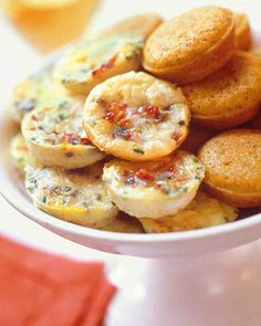 Mini Frittatas from Martha Stewart for a baby shower brunch.
