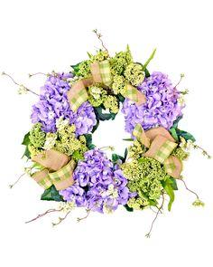 Spotted this Hydrangea & Queen Ann's Lace Wreath on Rue La La. Shop (quickly!).
