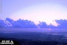 #Beirut sunset from Roumieh المغيب في #بيروت من رومية  Photo by Luciana #WeAreLebanon
