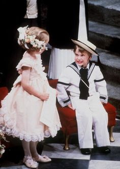 William during the wedding service of his uncle, Prince Andrew to Sarah Fergusoon. July 23, 1986 Look at that face