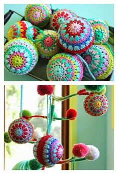 Crochet Christmas Baubles Free Crochet Pattern