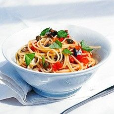 Delia Smith's Linguine with Sardines, Chilli and Capers