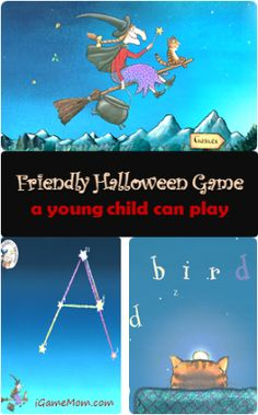 Based on the book of the same title, it is a not-so-scary Halloween game app for young children. Find out what games it offers. Halloween Tags, Scary Halloween Games, Halloween Stories, Halloween Books, Halloween Ideas, Halloween Party, Preschool Halloween, Halloween Crafts, Learning Apps