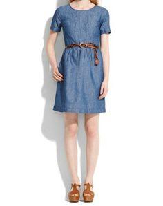 madewell chambray dress
