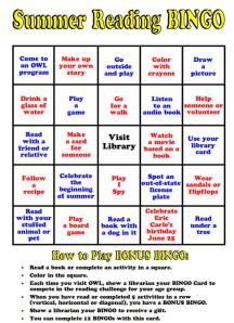 Summer Reading Bingo 1