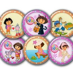 Dora-digital Collage Sheet 24 circles 1.06 by elenis4youbanners