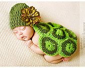 Baby turtle   I am pretty sure this is crocheted but, it's cute!