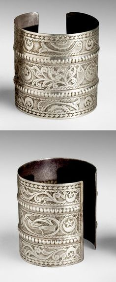 Tunisia | Pair of bracelets; silver | ca. mid 19th to mid 20th century