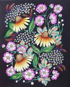 Blomster Mandala Coloring Book