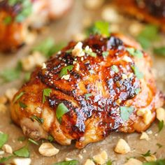 Easy Thai Chicken by damndelicious: Sticky, tender, moist and packed with so much flavor. 30 minutes. #Chicken #Thai #Quick #Easy