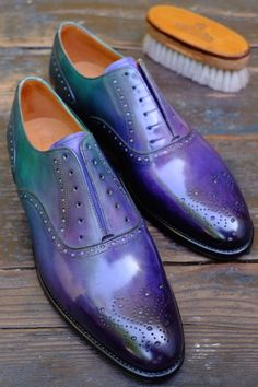 """The Black Pearl""  A new Patina by Alexander Nurulaeff - Dandy Shoe Care for ""Missione Greenwood""  In exclusive for J.FitzPatrick Edition 2015"
