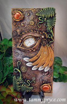 Ooak Polymer Clay Dragon's Eye Steampunk Style 3 by TammyPryce $85-