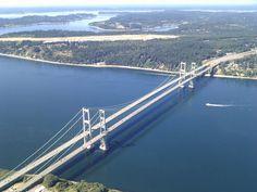 Tacoma Narrows Bridges over Puget Sound, Tacoma, USA