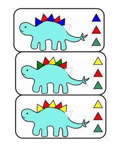 DinoSeqCard-E-6.gif Dinosaur Theme Preschool, Dinosaur Activities, Indoor Activities For Kids, Preschool Lessons, Preschool Worksheets, Preschool Activities, Preschool Curriculum, Homeschooling, Dinosaur Projects