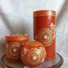 Mango scented candles #henna #hennaart #candleset #candle #mango #scentedcandles #hennalove #wax #candles