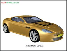3D Vehicle: Aston Martin Vantage Autocad, 3d Cad Models, Aston Martin Vantage, Cad Blocks, Super Cars, 3 D, Vehicles, Car, Vehicle