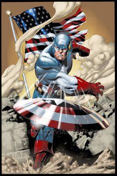 Captain America - line art: Clayton Henry, color: Hugo Froes Marvel Comics, Arte Dc Comics, Marvel Comic Universe, Bd Comics, Marvel Heroes, Marvel Avengers, Comic Book Characters, Comic Book Heroes, Marvel Characters