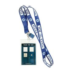 Doctor Who TARDIS Lanyard | Hot Topic ($6.80) ❤ liked on Polyvore