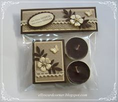 Adorable matches and tealight set. I'd love to give or receive this.