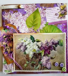 Page of lilacs for a Garden Journal