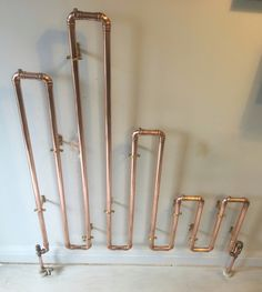 :: Havens South Designs :: DIY Radiators Copper Lamps, Towel Warmer, Industrial Living, Rustic Bathrooms, New Home Designs, Recycled Furniture, Handmade Home, Plumbing, Metal Working