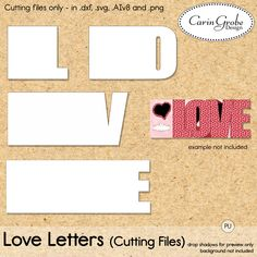 Love Letters (cutting files)   #theStudio #digiscrap #Cameo #hybrid
