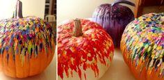 Melted Crayon Pumpkins!