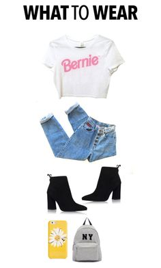 """""""#feelthebern"""" by foxescitys on Polyvore featuring Stuart Weitzman, Joshua's and Kate Spade"""