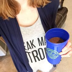 Lately I've been adding @vega_team Chocolate Protein and Greens to my Chocolate Shakeology and it's the BEST combo! Add a banana water and ice and blend!! It's a full meal replacement (about 450 calories).  Weak made Strong tank by @milkandhoneytees
