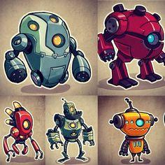 Robot collection #robots #photoshop #cintiq