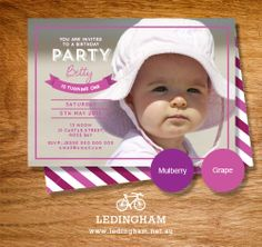 Any Age Any Occasion Birthday Invitations by LedinghamShop on Etsy