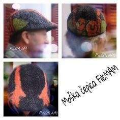 A Hand Felted Hat for men and woman by FilcMAM on Etsy