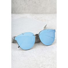 Super Powers Silver and Blue Mirrored Sunglasses ($15) ❤ liked on Polyvore featuring accessories, eyewear, sunglasses, silver, silver glasses, mirrored sunglasses, lulu glasses, silver mirror lens sunglasses and blue mirrored sunglasses