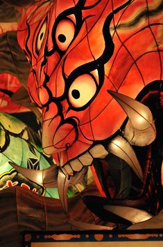 Nebuta Matsuri lantern parade float - great pictures in this article. Must see this someday.