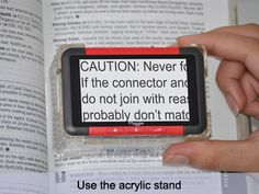 Bierley Electronics Maggie MD- Pocket sized electronic magnifier. Easy to take to school and to use on the go.