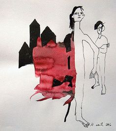 Marianne Laiti ink drawing