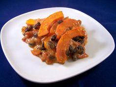 Chili met pompoen uit de oven, vegetarisch, veganistisch