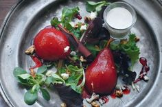 Red juicy pears..a romantic feel. Perfect for an intimate side dishes with your love