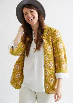 Crochet Granny Square Cardigan Pattern– Maggie's Crochet Crochet Cardigan Pattern, Granny Square Crochet Pattern, Crochet Squares, Crochet Granny, Knit Crochet, Crochet Patterns, Granny Squares, Granny Square Sweater, Sunburst Granny Square