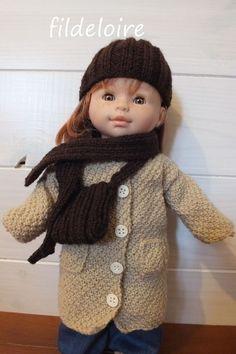 tuto manteau tricoté pour poupée Corolle et Paola Reina de 36 cm