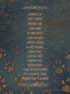 Pet Protection spell ~~ I will be doing this for my fur babies ~~ Tiny Marie, Colby Jack & Persephone Jade :)