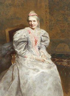 C. Kay Fischer (active 1894–1895) Mrs William Bindloss, née Kitching (1821–1894)