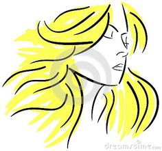 Image representing an artistic woman face. An idea for all projects about women and beauty