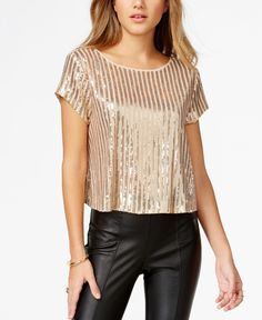 Guess Sequin Boxy Top