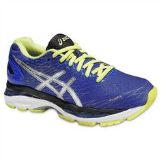 3ee89ff9b10d0 Asics Gel-Nimbus 18 Woman Blue Yellow Shoes Asics Gel-Nimbus 18 Red Black