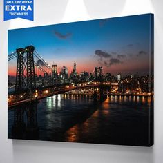 Manhattan Bridge New York Skyline Canvas