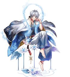 anime witch male boy characters frost leaf guys cute manga queen moon wikia merman fantasy