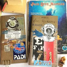 Left: Saved all the Raja Ampat, Maldives, Malaysia & Thailand dive memories. Right: New insert to log more memories to come; no matter how small or slow the numbers run, each is significant to me. :: with Papa's vintage PADI manual circa 1978 ~ ~ ~ ~ ~ Scuba Travel, Post Brief, Me Tv, Travelers Notebook, Diving, Numbers, Photo And Video, Maldives, Bujo