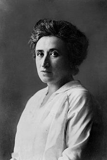 Rosa Luxemburg (1871–1919) was a Marxist theorist, philosopher, economist and revolutionary socialist. She was successively a (founding) member of the Social Democracy of the Kingdom of Poland and Lithuania (SDKPiL), the Social Democratic Party of Germany (SPD), the Independent Social Democratic Party (USPD), and the Communist Party of Germany (KPD). One of the leading revolutionary pacifists and anti-militarist, she was slain by reactionary para-military forces.
