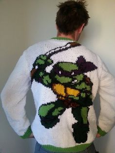 Here's the back of the tmnt sweater I made!